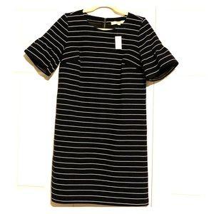 Loft Brand New Navy Blue & White Stripe Dress